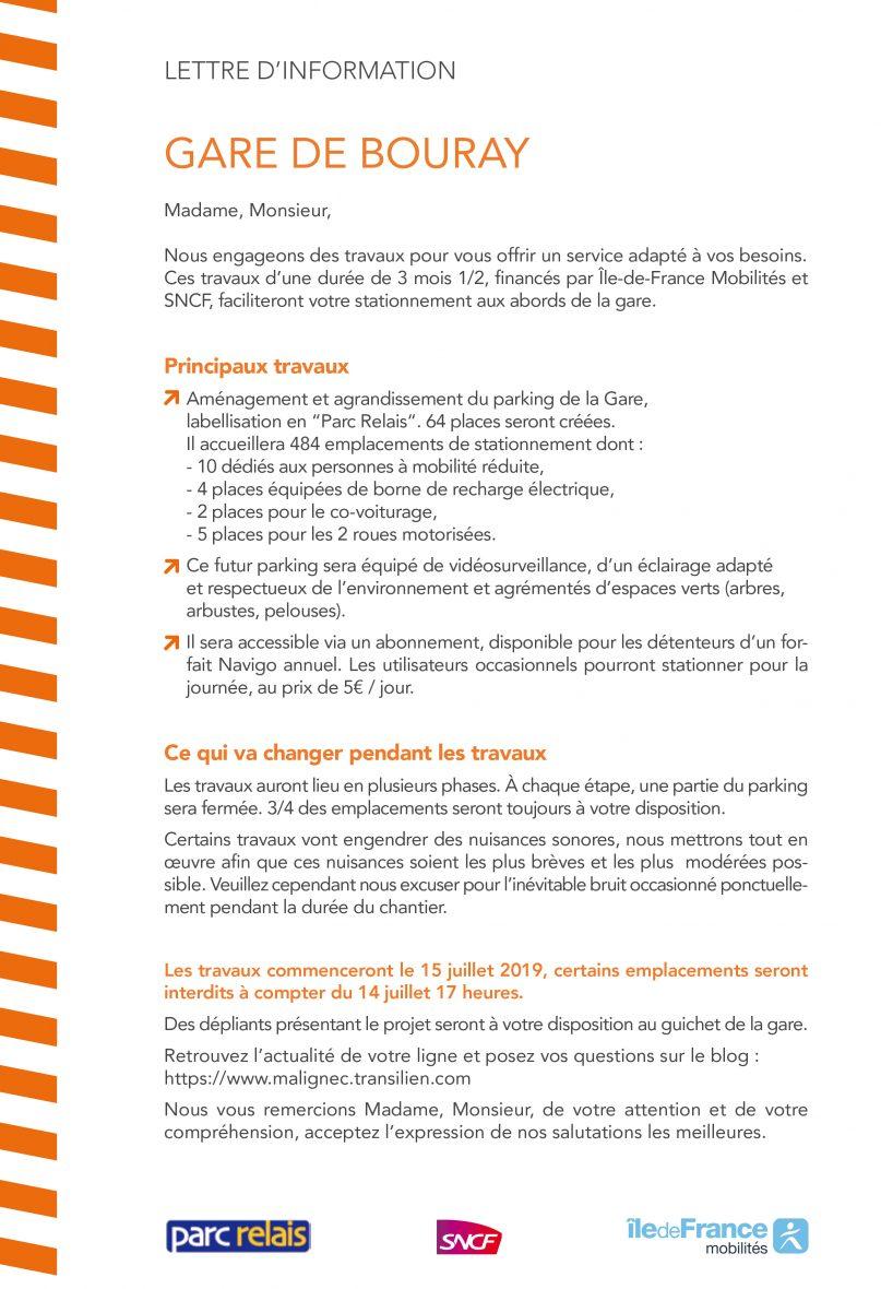 Parc-Relais de la Gare de Bouray : ouverture des ...